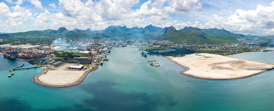 Ariel View of Port Louis